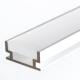 Алуминиев LED профил HR-ALU - 1м, матов разсейвател