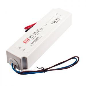LED ТРАНСФОРМАТОР - ВОДОУСТОЙЧИВ, 100 W, 12V/MW, IP67